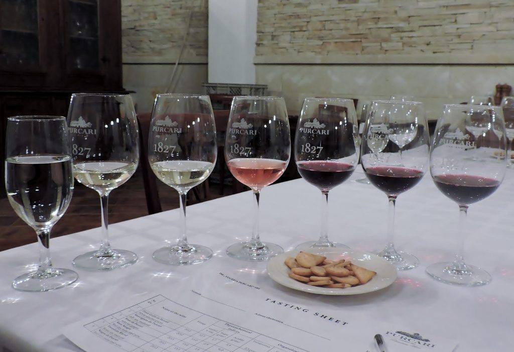 7 wine glases, Moldova