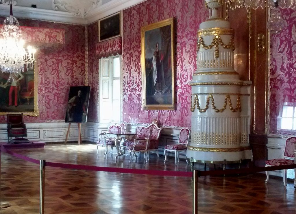 a baroque styled room in Salzburg