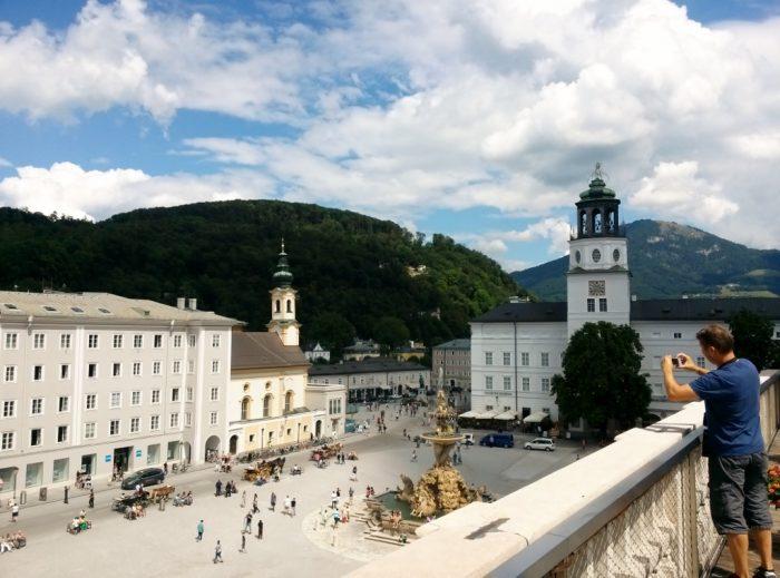Salzburg residence fountain