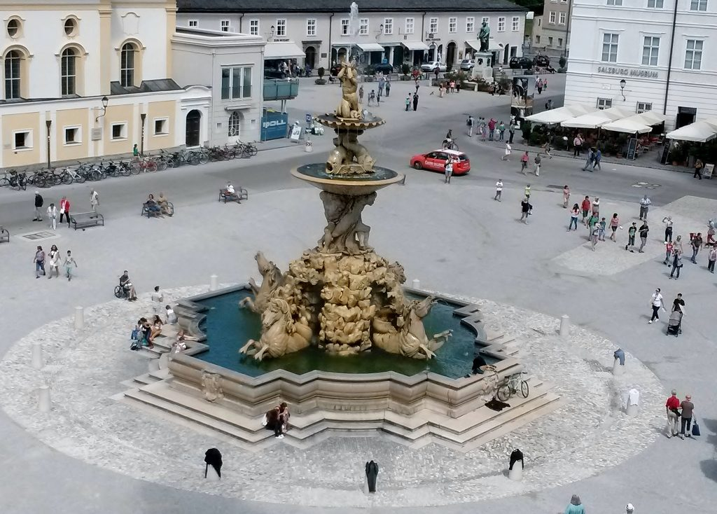 Baroque Glory of a fountain with square