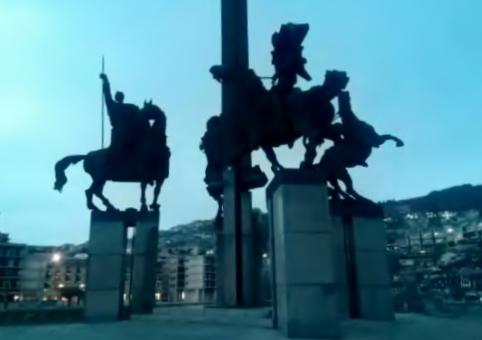 Pferdestandbild in Bulgarien