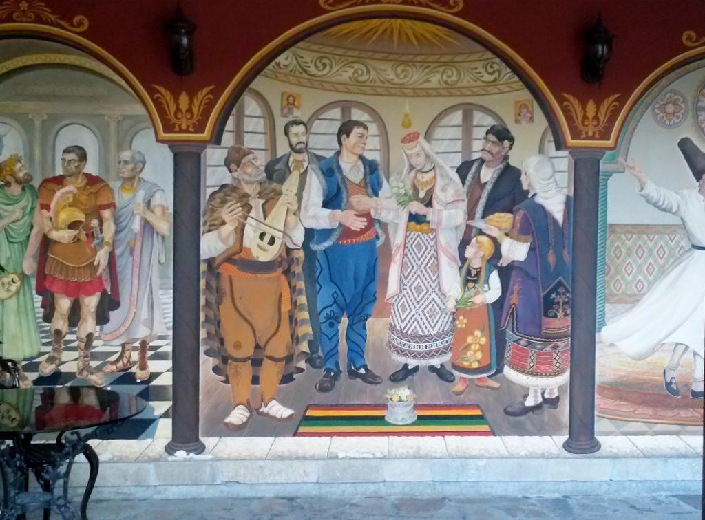 bunte Wandfresken in der Plovdiv - Altstadt