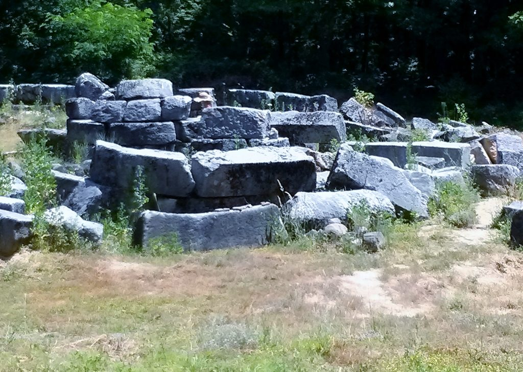 Huge stones of an ancient temple