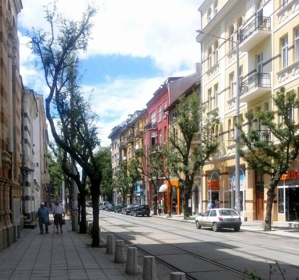 Einkaufsstraße in Sofia