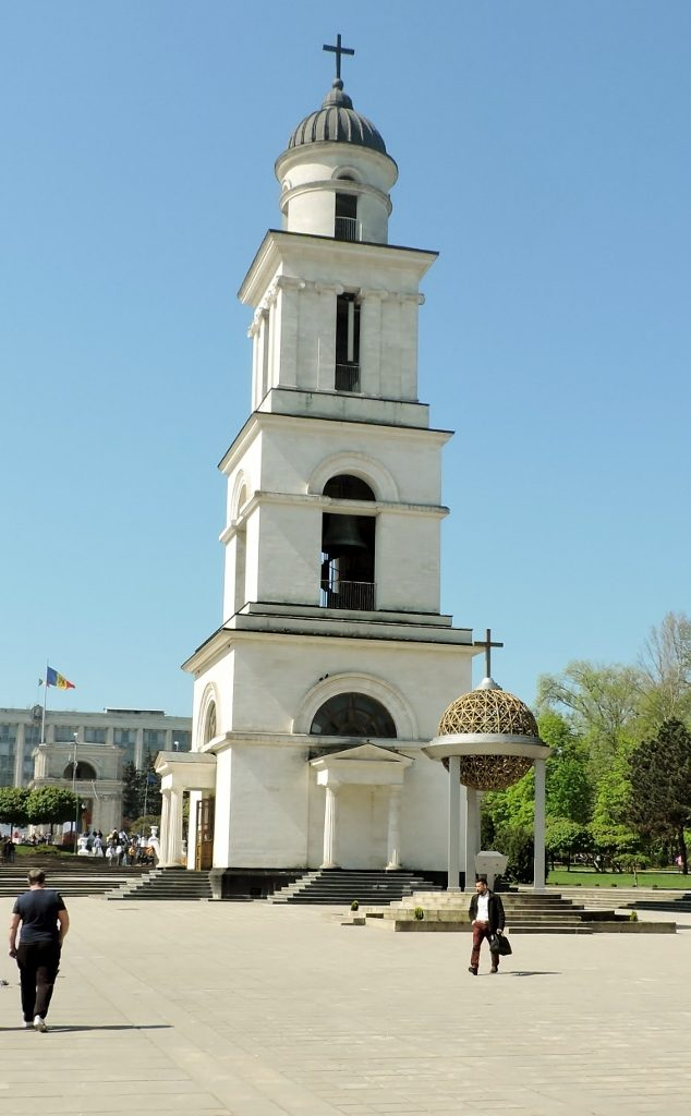 hoher Glockenturm in Chisinau Kishnev, Moldawien