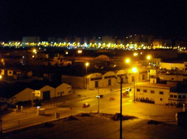 Hafengebäude _Tanger in der Nacht