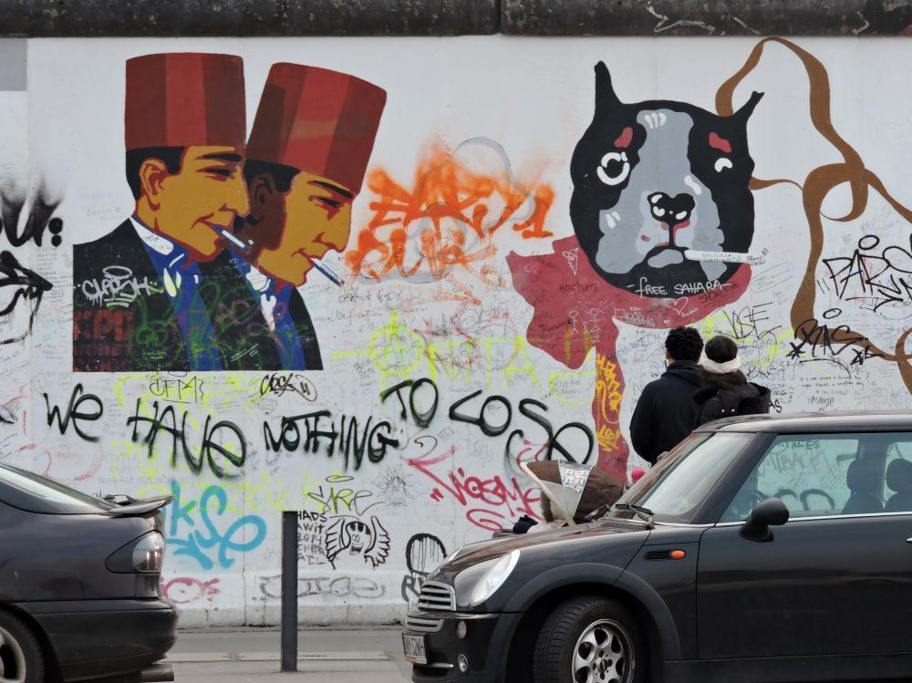 bunte Straßenkunst, Street Art Berlin