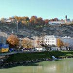 Goldener Herbst in Mozart-Stadt Salzburg