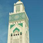 Minarett der Moschee in Casablanca