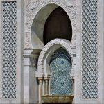 orientlaisch verzierter Brunnen in Casablanca