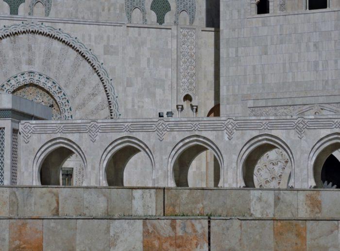 Teilansicht der Mosche in Casablanca