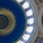 blaue Jugendstil Kuppel,