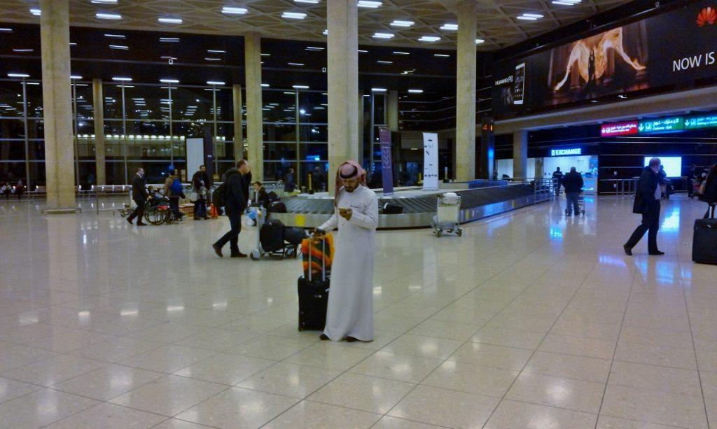 Flughafen Amman; von Amman zum Toten Meer