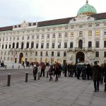 im Innenhof der Wien Hofburg