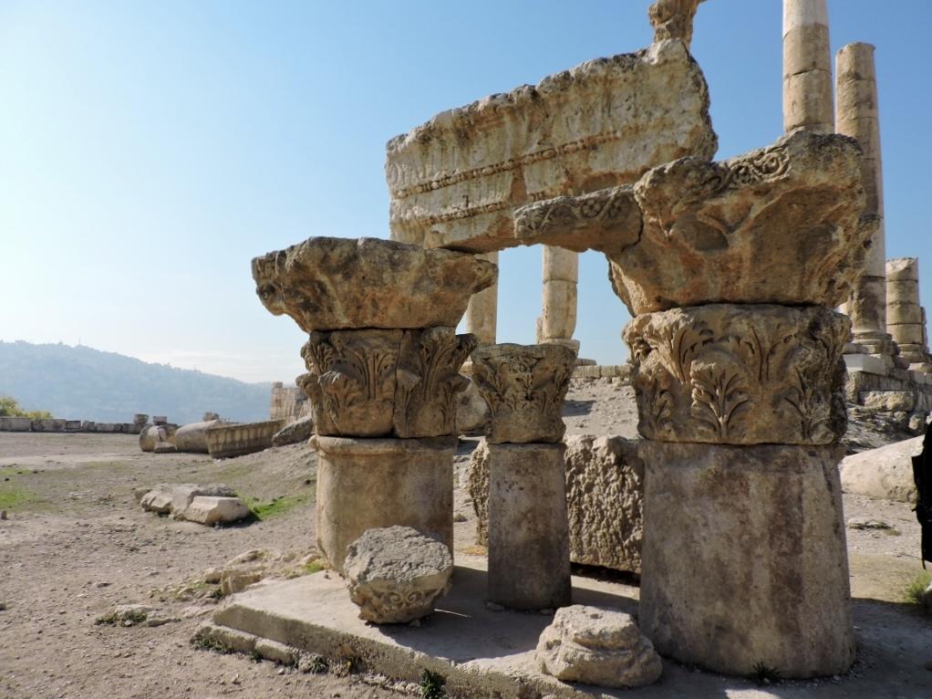 antike Runinen, von Amman zum Toten Meer