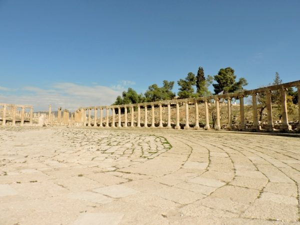 Ovales Forum von Jerash, Jordanien
