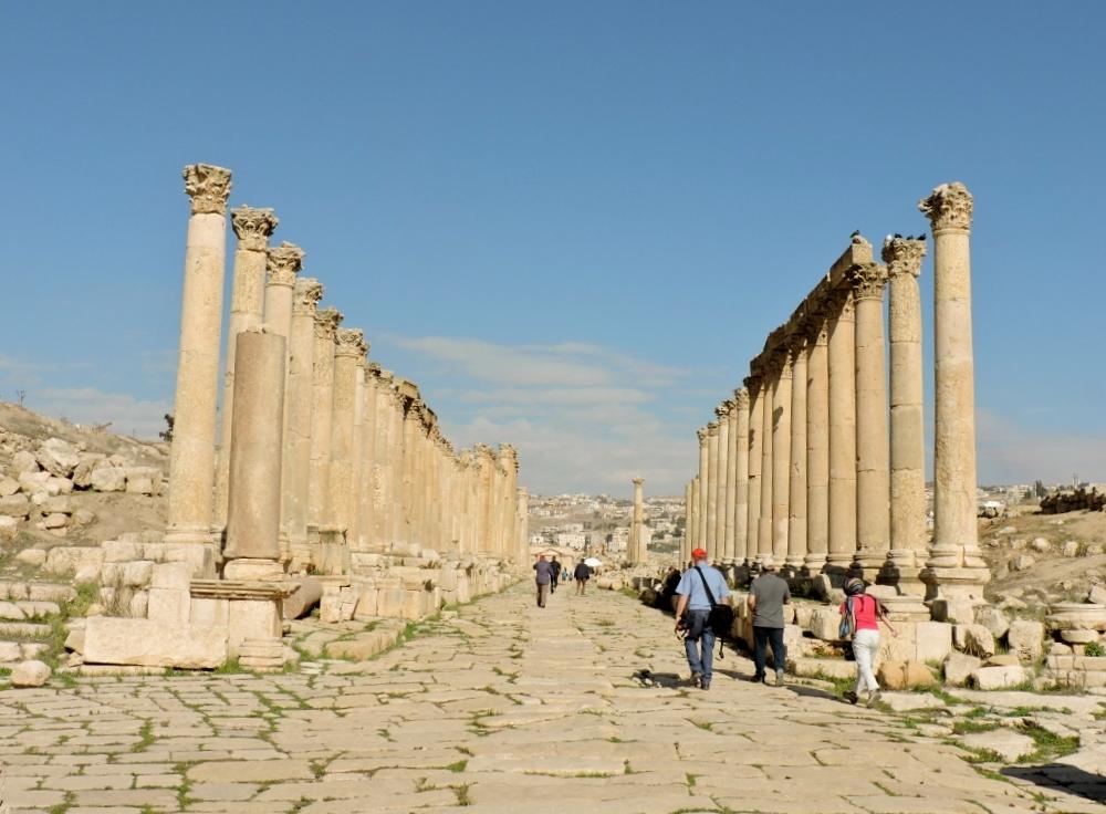 Säulen Kollonade in Jordanien