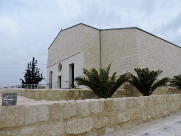 moderne steinerne Kirche von Mount Nebo