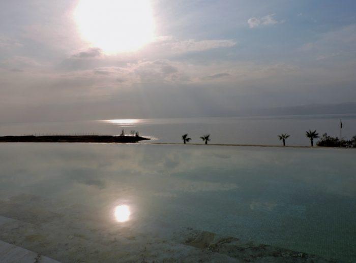 Abendstimmung am Toten Meer, Jordanland