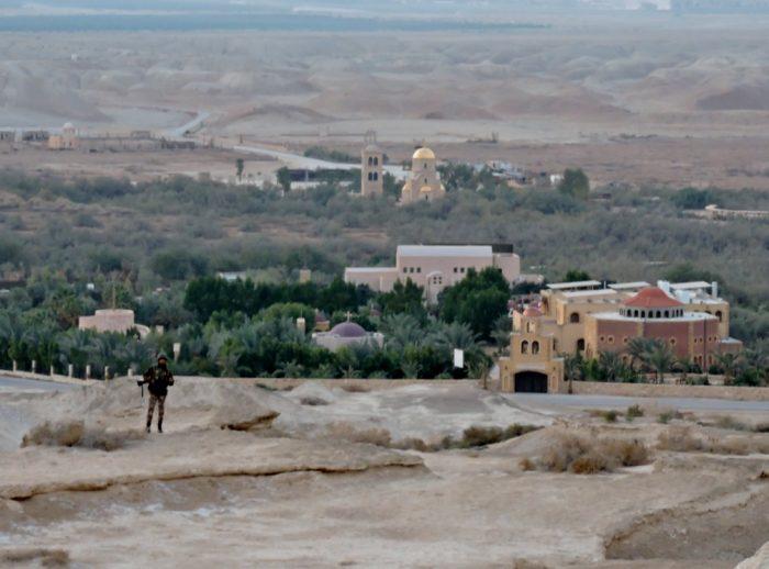 Oase in der Wüste vom Jordanland