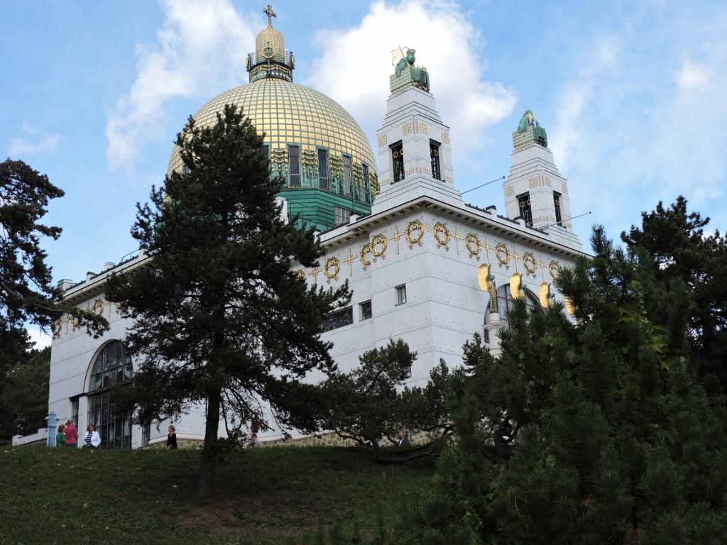 Ausflug in Wien Jugendstil Architektur Steinhof Kirche