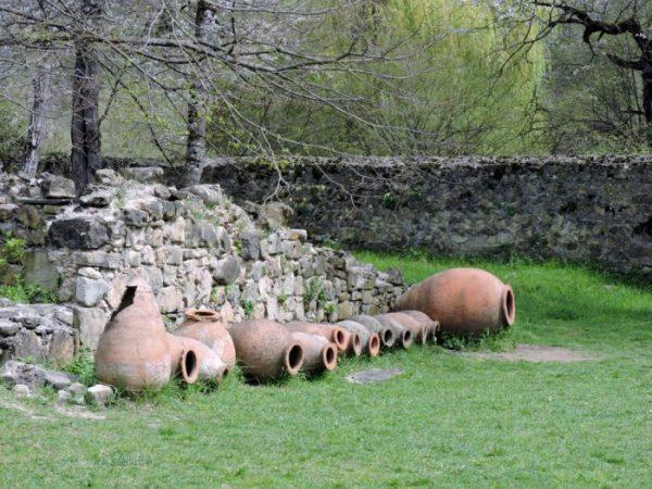 Wein Amphoren in Georgien