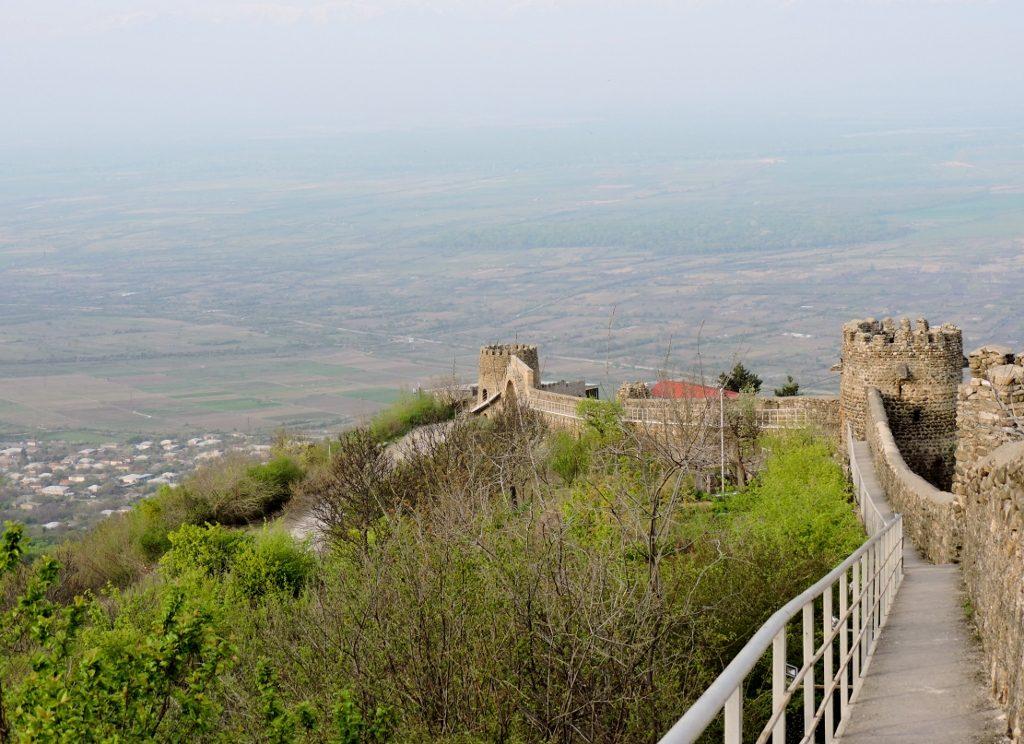 Wehrmauer mit Türmen von Sighnaghi, Georgien Reise