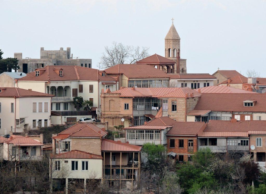 Ansicht von Sighnaghi, Georgien Reise