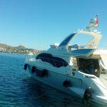 weiße Yacht am Meer_Türkei