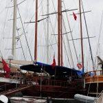 Marina mit Yacht_Türkei