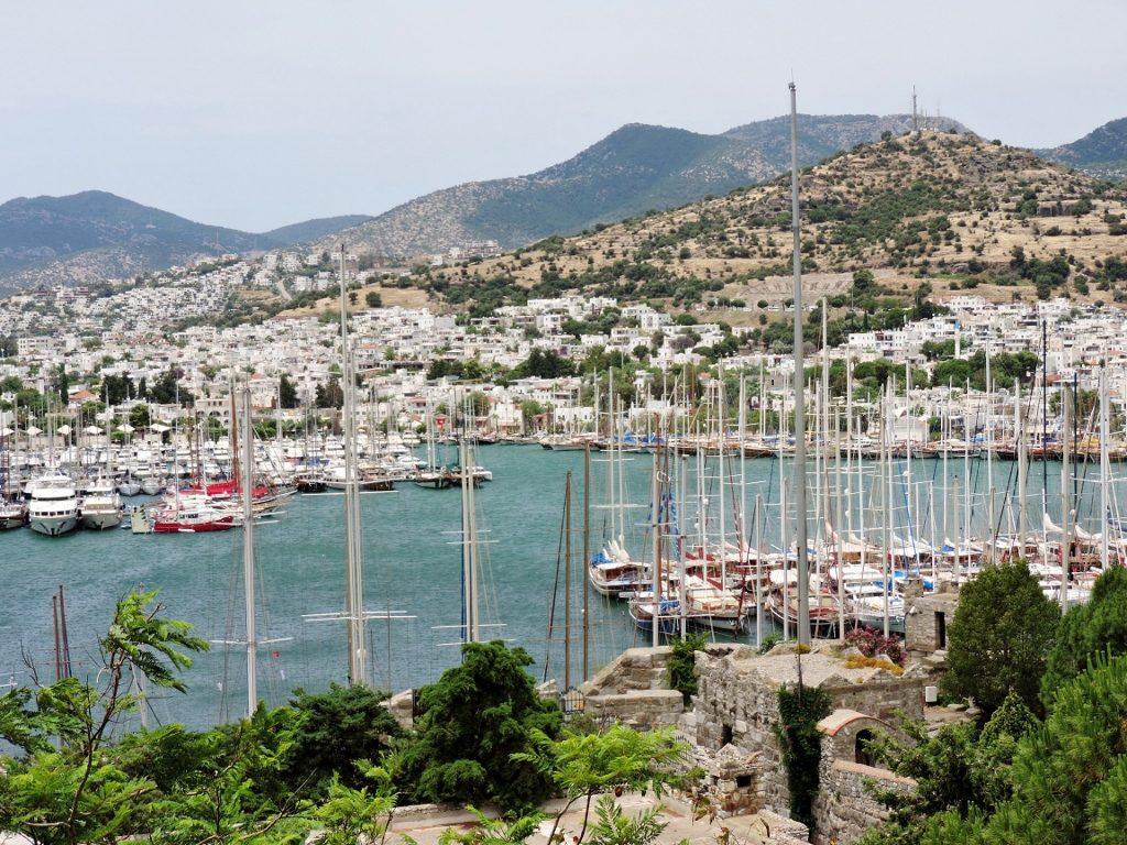 Halbinsel Bodrum Türkei Yachthafen