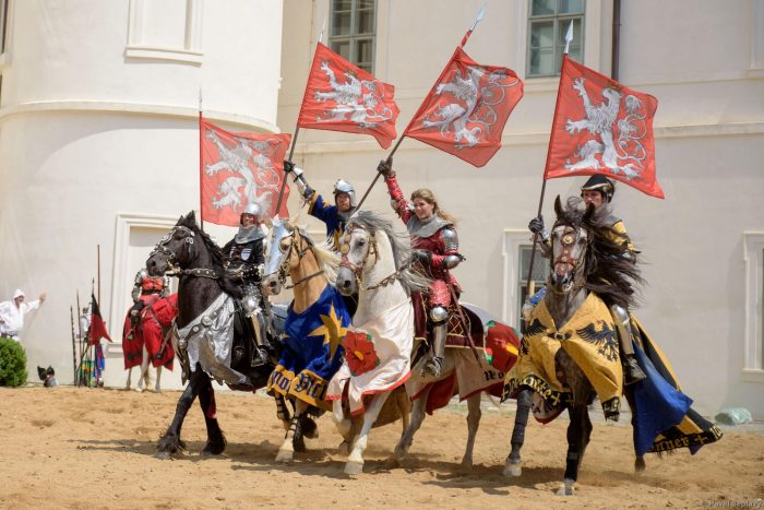 Reiter beim Mittelalter-Festival