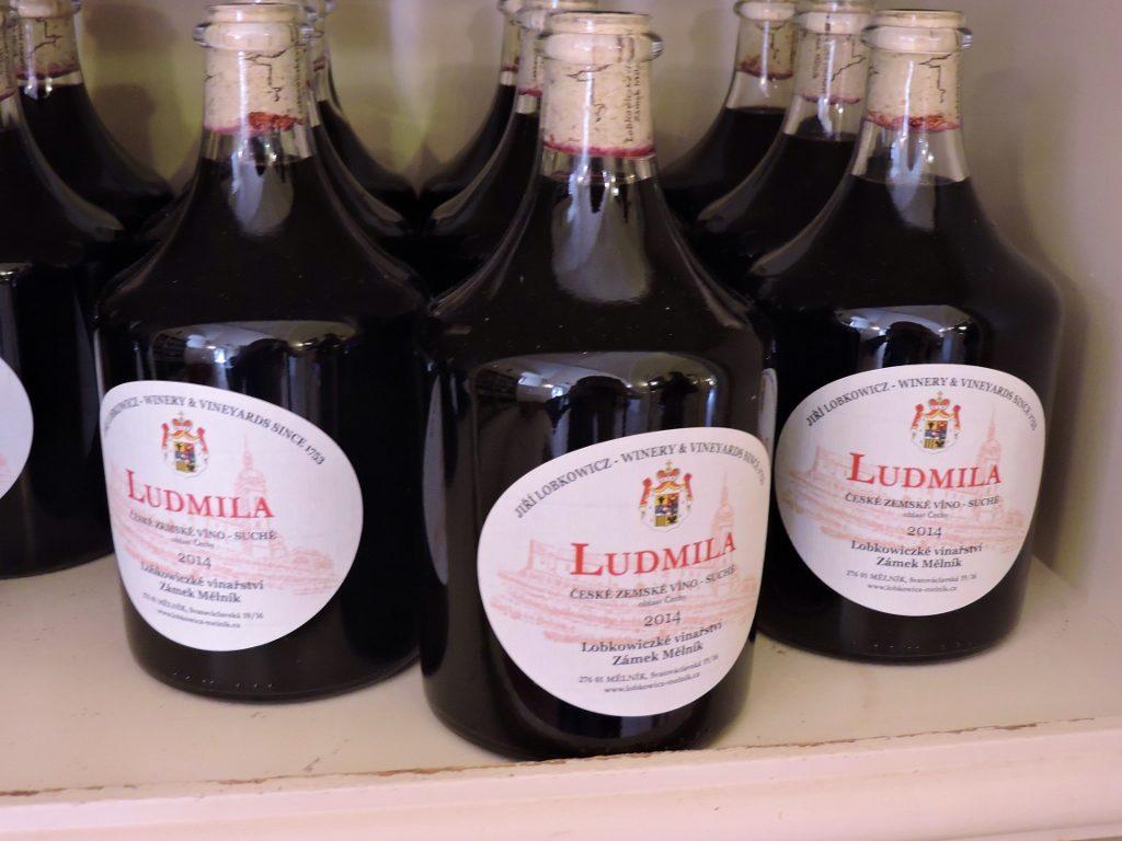 Wein Flaschen aus Melnik, Tschechien