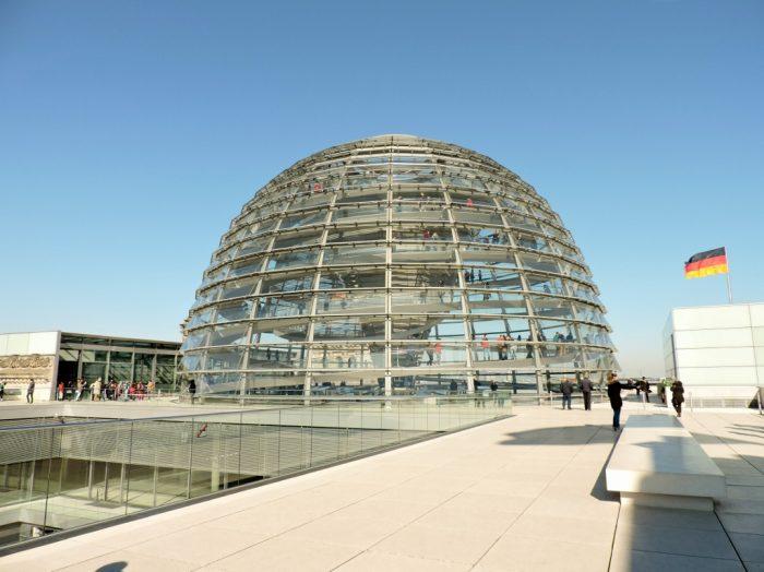 Glaskuppel auf dem Reichstagsgebäude