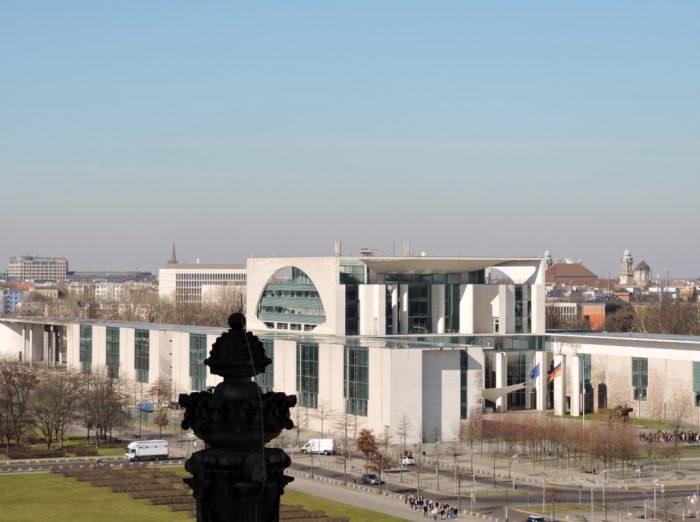 Blick vom Reichstagsgebäude Berlin