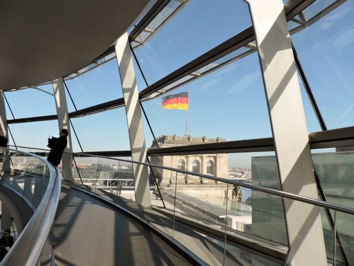 Aussicht Reichstagsgebäude Berlin
