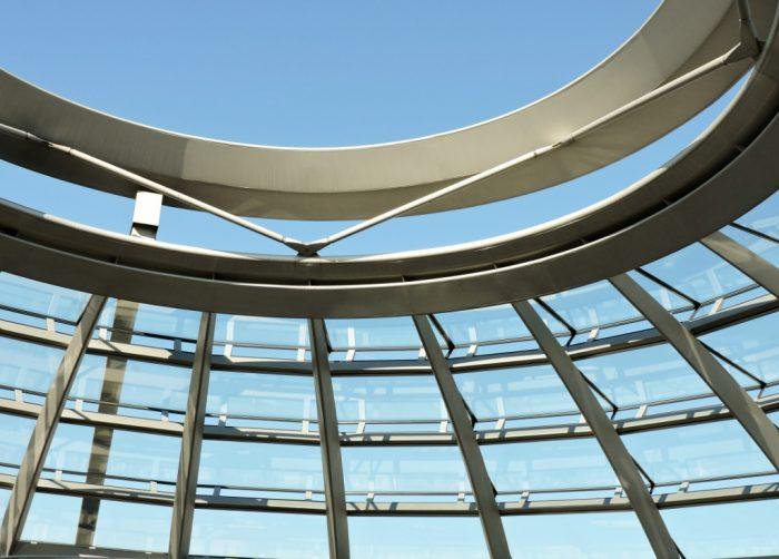 moderne Architektur mit Glas