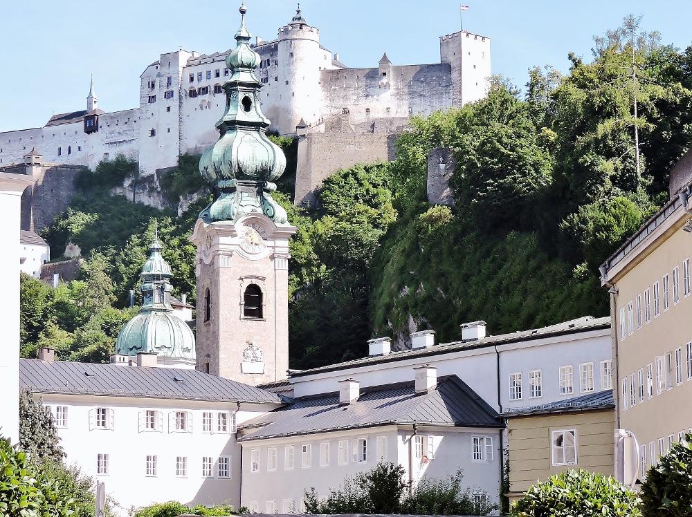 Salzburg Altstadt mit Festung