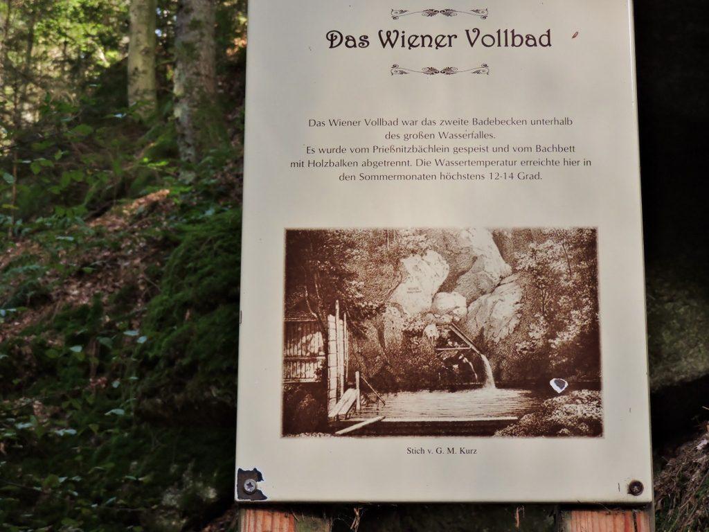 Info-Tafel für Kneippen im Mühlviertel in Oberösterreich