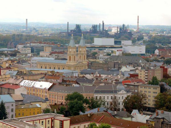 Panoramablick über die Stadt Ostrava