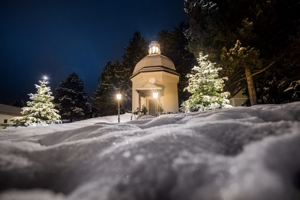 Stille Nacht Salzburg mit Kapelle in Oberndorf
