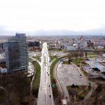 Bratislava von Oben in Winterszeit