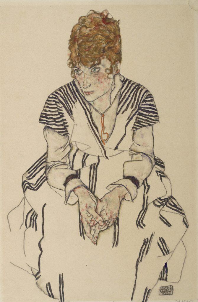 Frauen Bildnis aus der Egon Schiele Ausstellung Wien