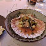 Muschel auf Teller zum Essen