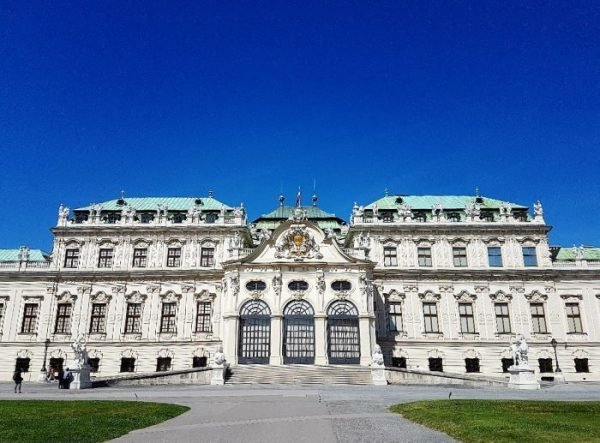 Oberes Belvedere Schloss im Sommer