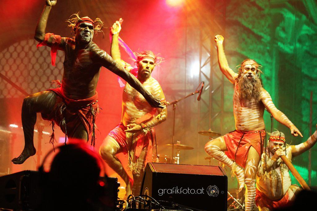Tanzperformance Aboriginees im Weltmuseum Wien