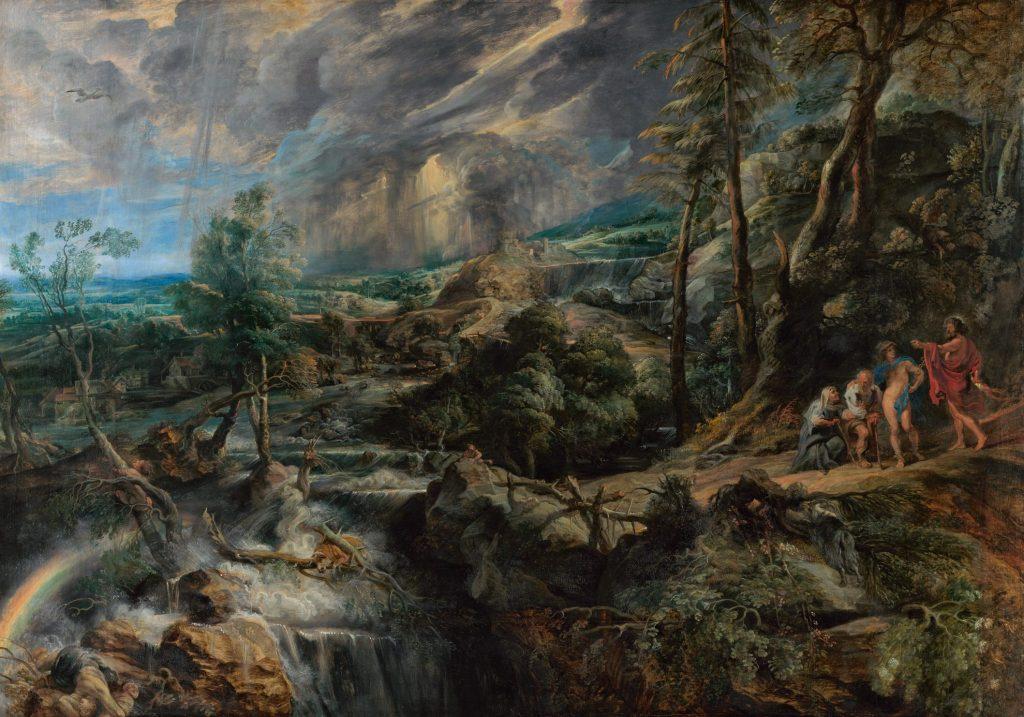 Bild aus der Rubens Ausstellung: ein Star einst und jetzt!