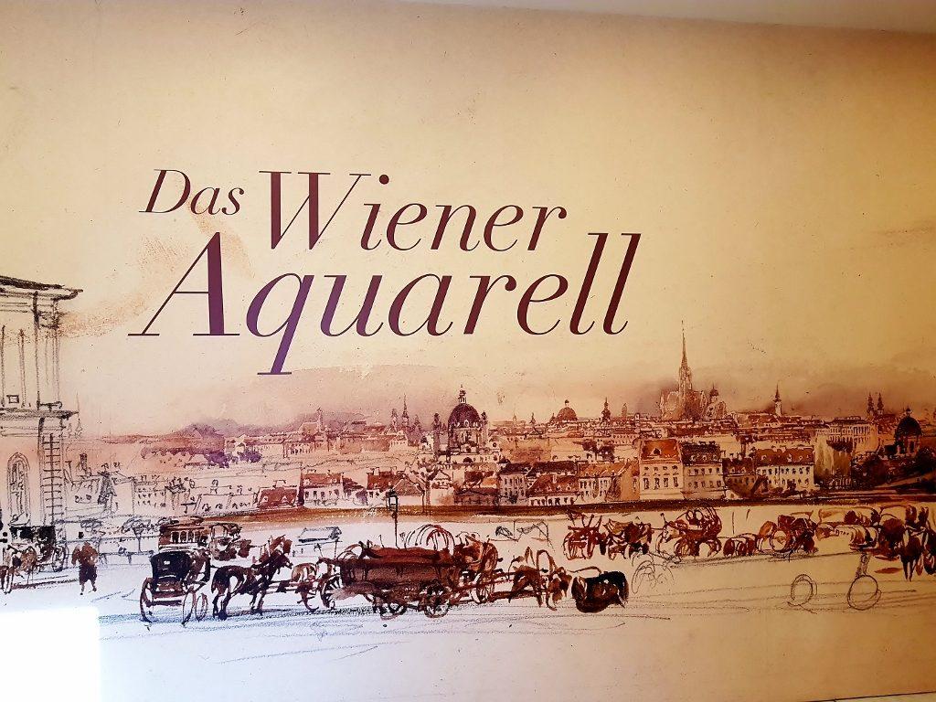 Ankündigung für Aquarell-Kunst Ausstellung