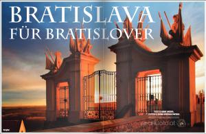 Zeitungsabildung von einem Städtetrip Bratislava