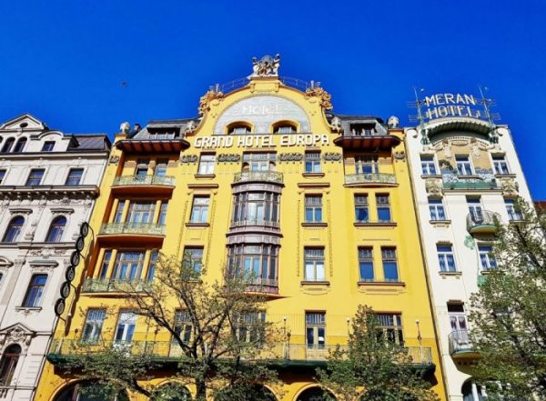 Prag Architektur, schöne Palais